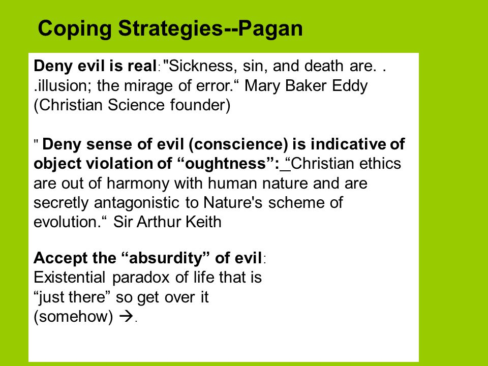 Coping Strategies--Pagan