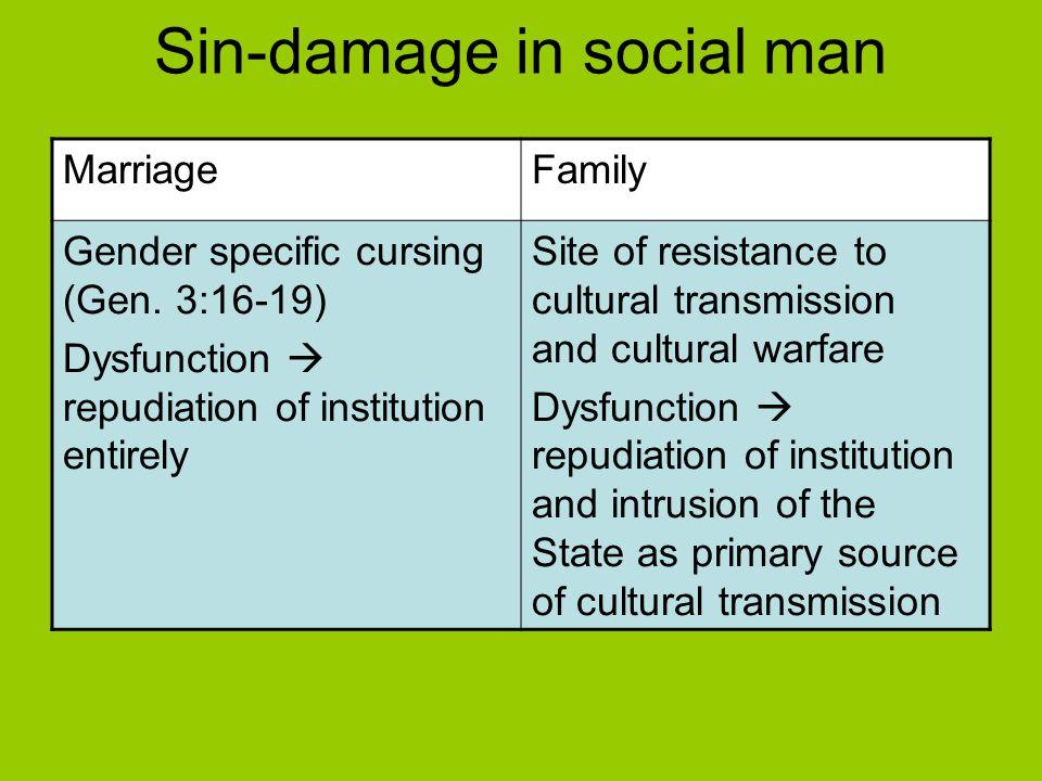 Sin-damage in social man