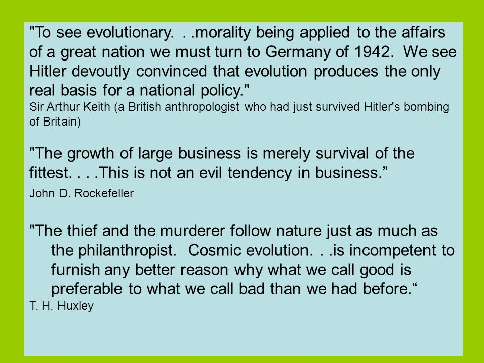 The thief and the murderer follow nature just as much as