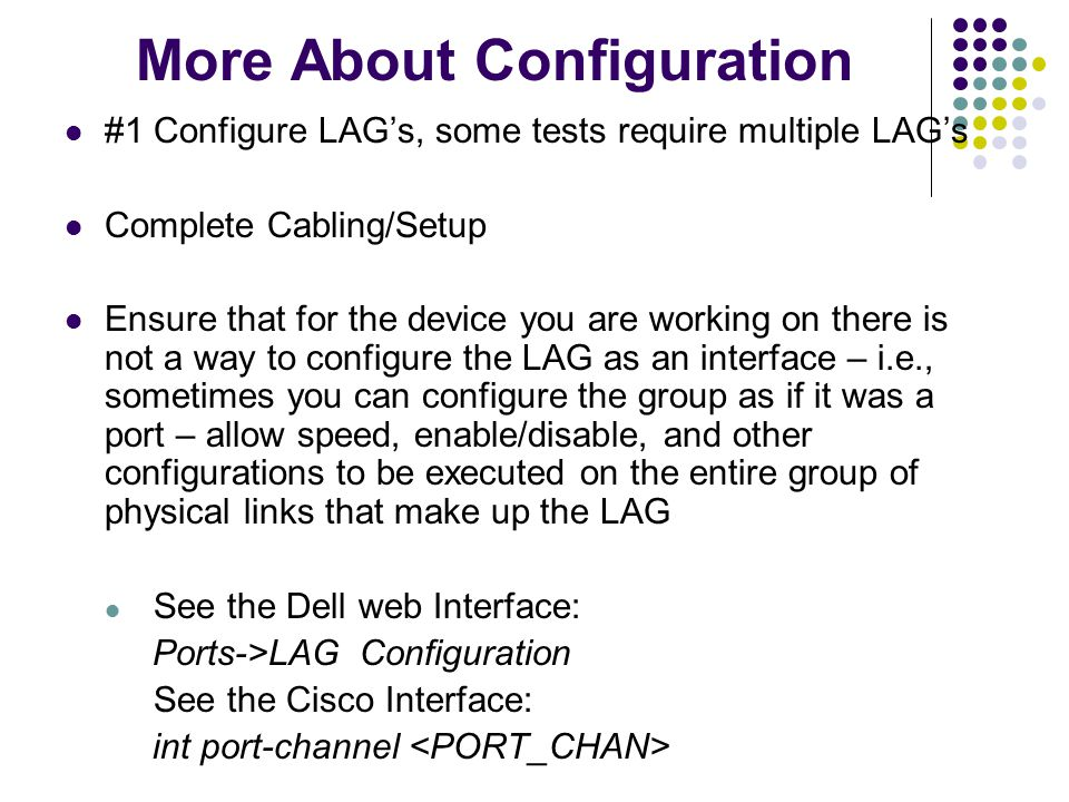 More About Configuration