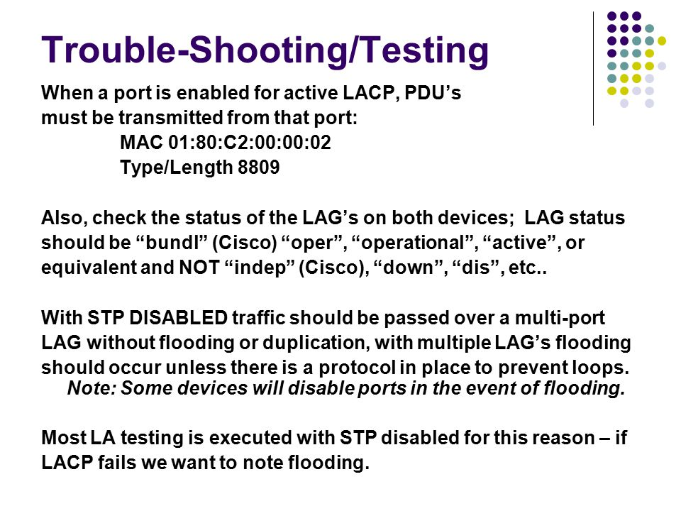 Trouble-Shooting/Testing