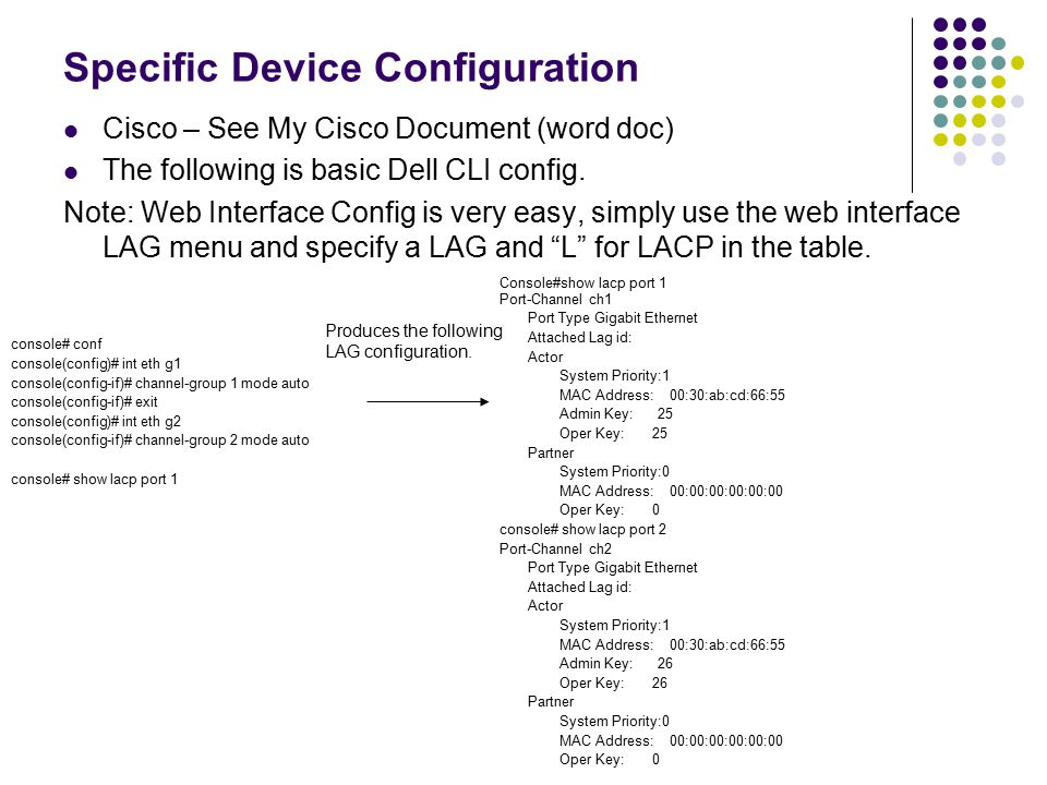 Specific Device Configuration
