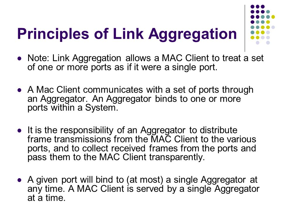 Principles of Link Aggregation