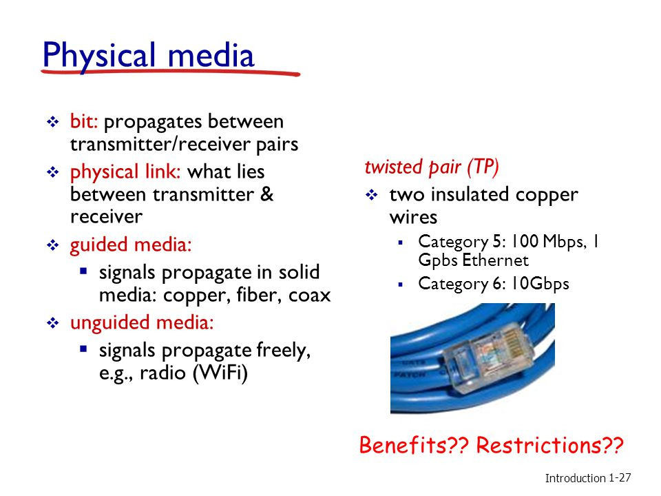 Physical media bit: propagates between transmitter/receiver pairs