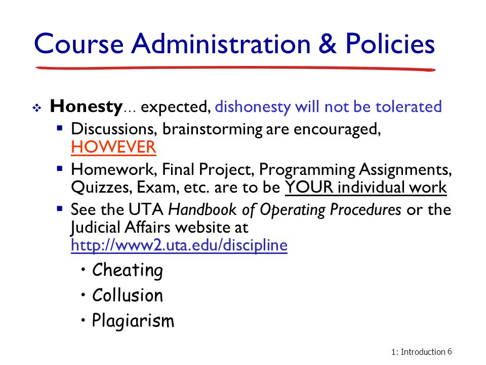 Course Administration & Policies