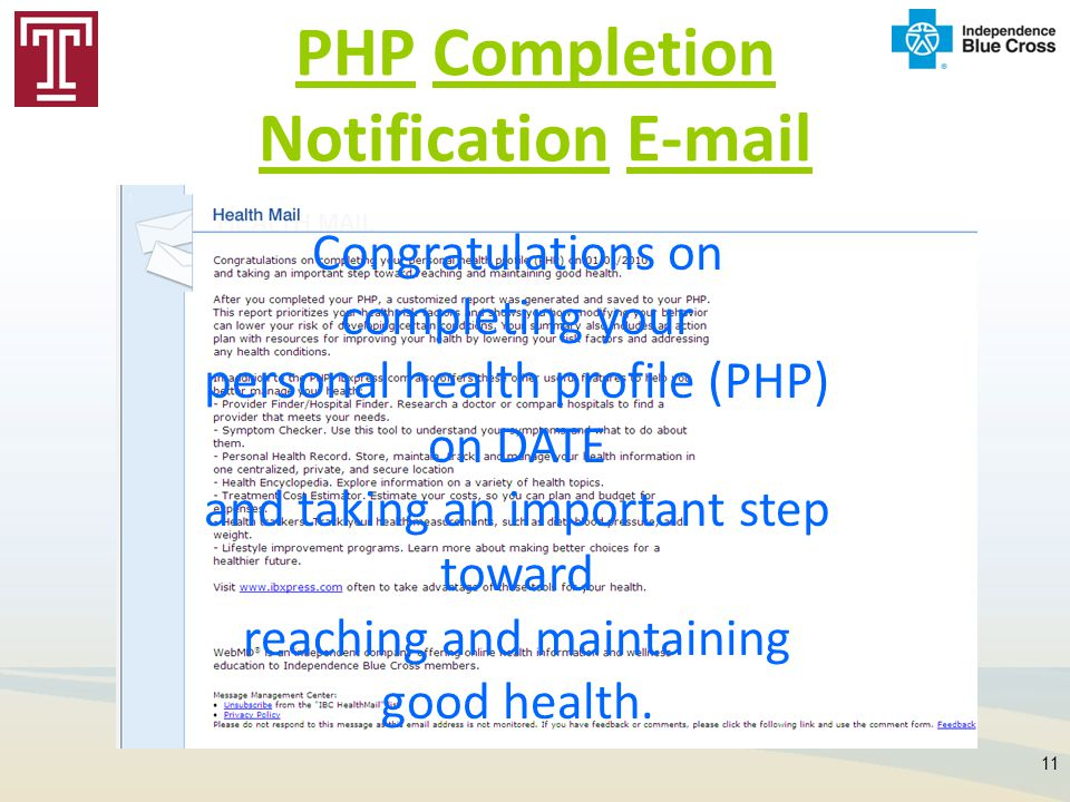 PHP Completion Notification E-mail