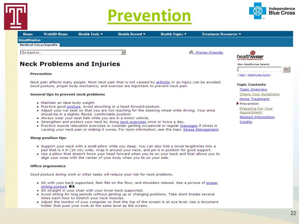 Prevention 22