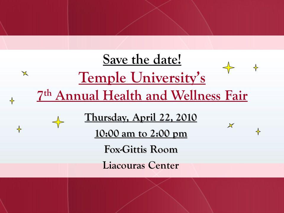 7th Annual Health and Wellness Fair