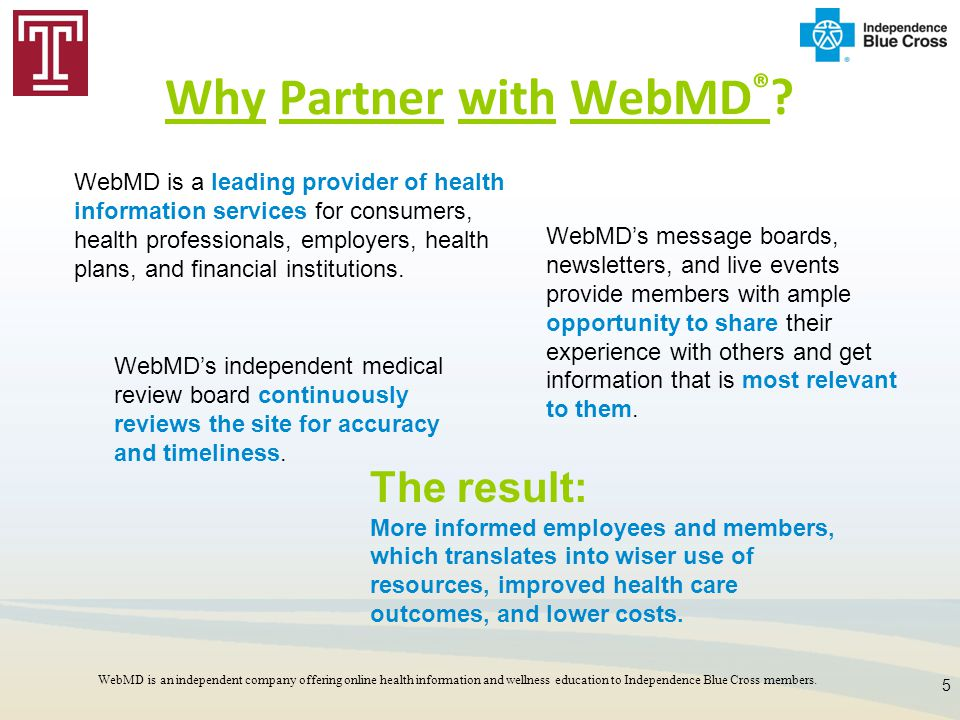 Why Partner with WebMD®