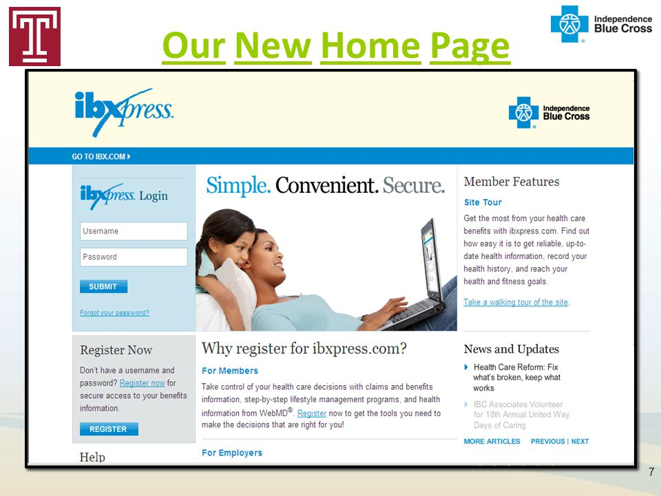Our New Home Page
