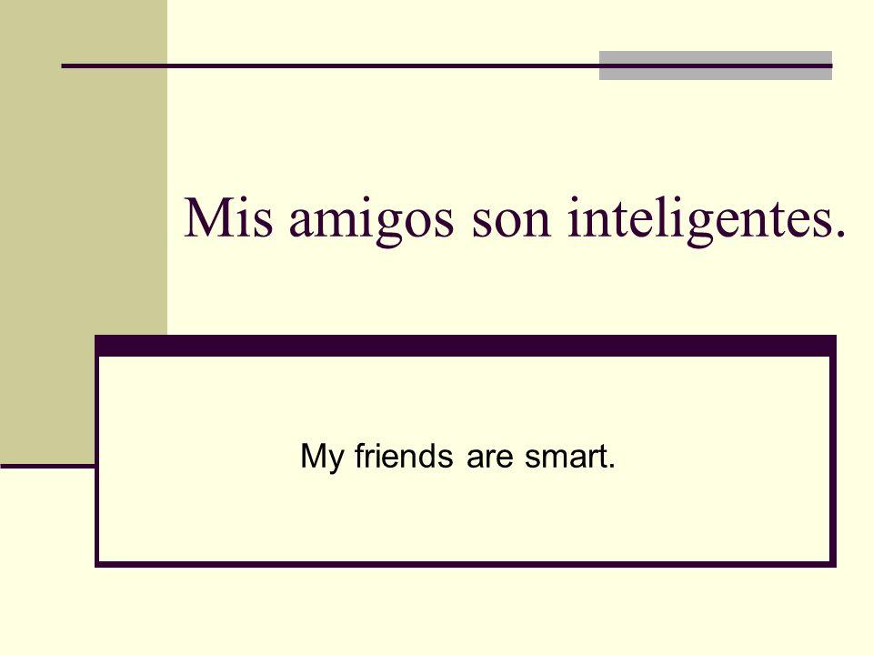 Mis amigos son inteligentes.
