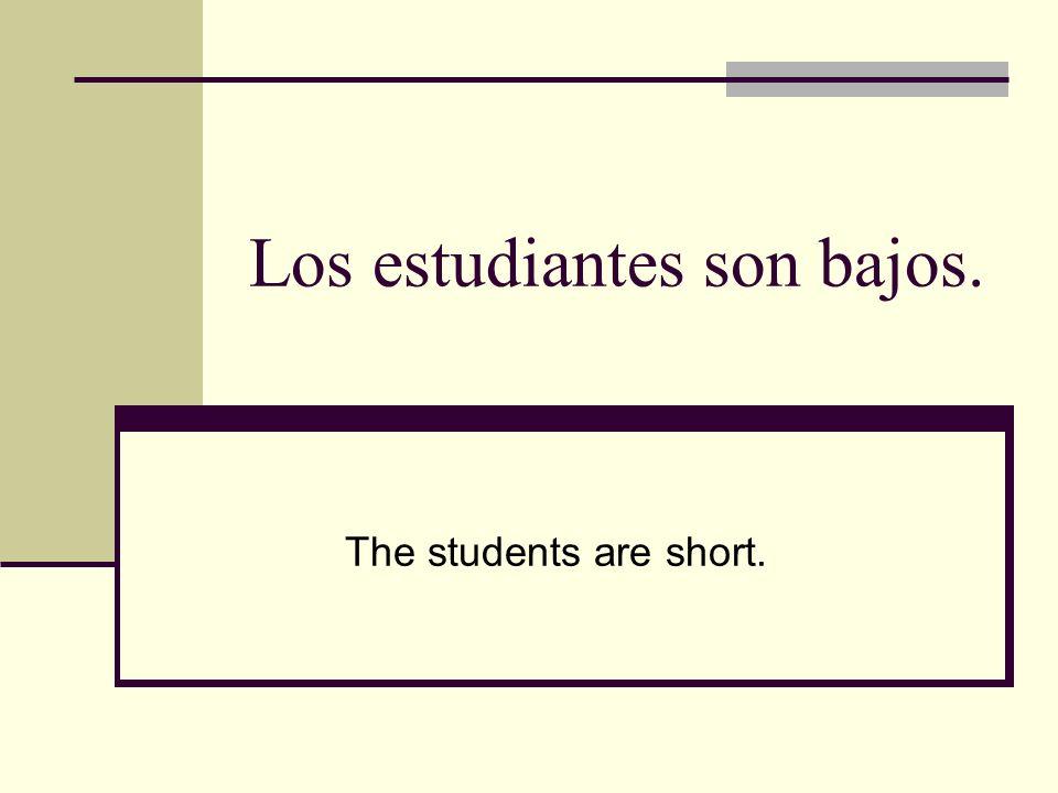 Los estudiantes son bajos.
