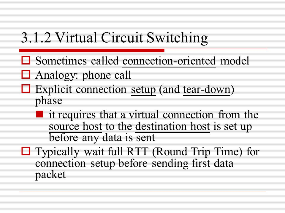 3.1.2 Virtual Circuit Switching