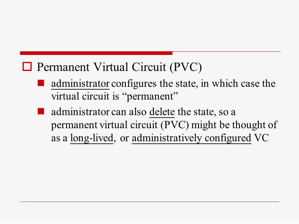 Permanent Virtual Circuit (PVC)