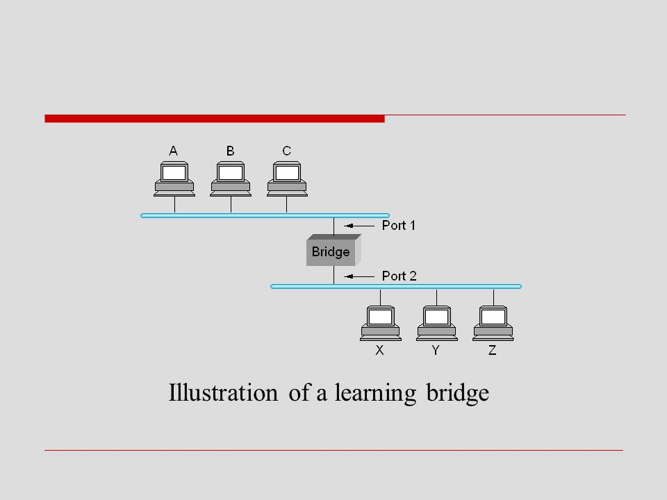 Illustration of a learning bridge