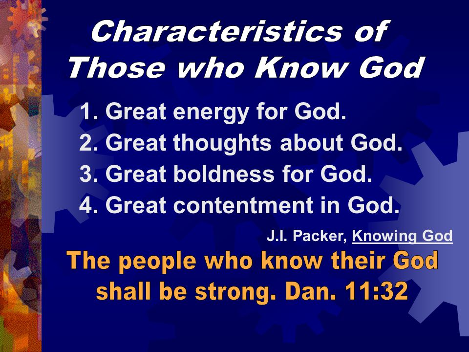 The people who know their God