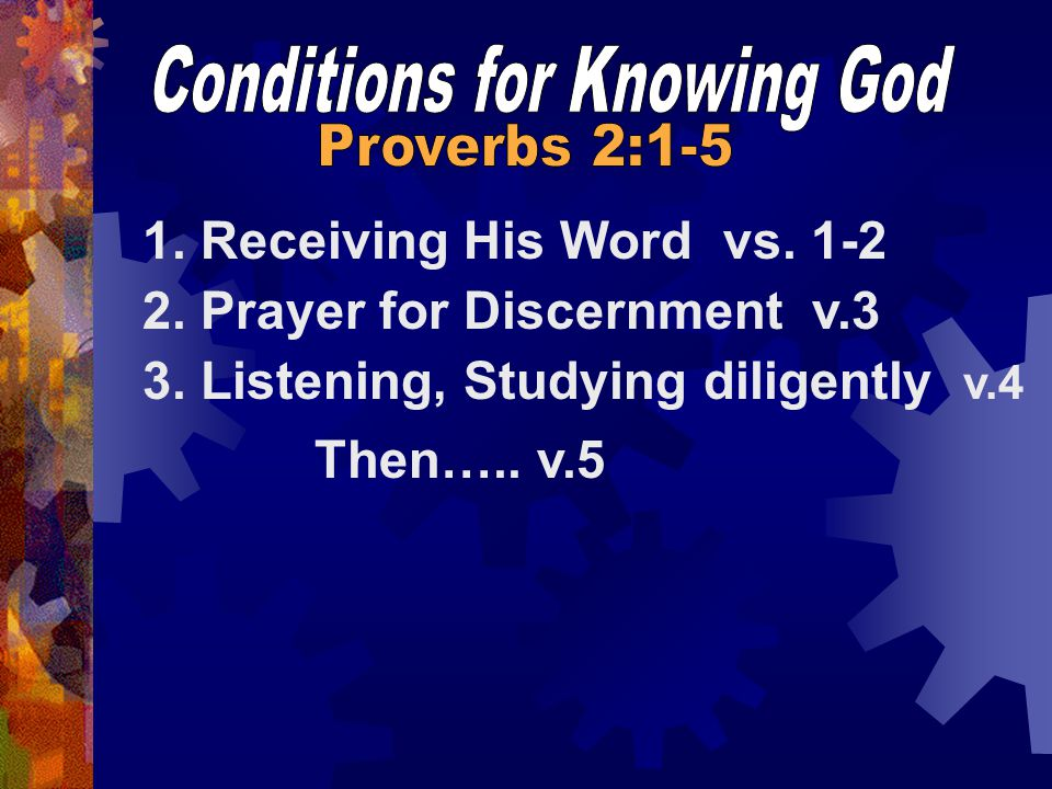 Conditions for Knowing God