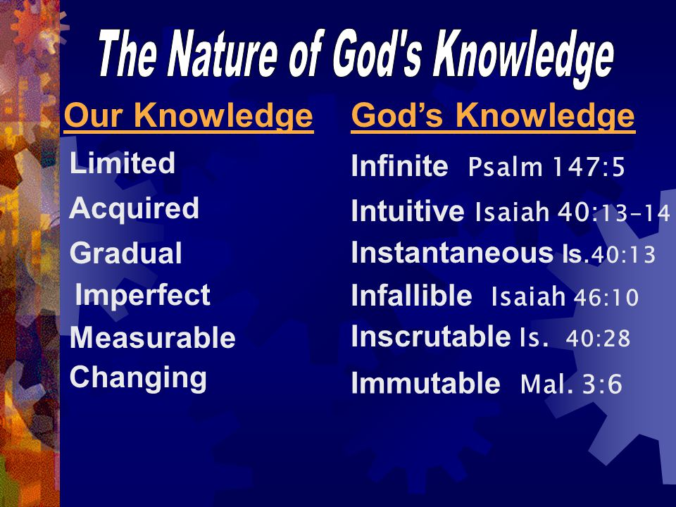 The Nature of God s Knowledge