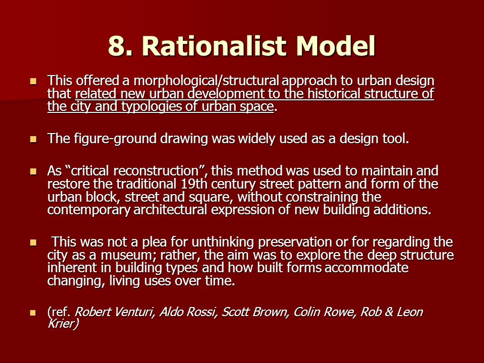 8. Rationalist Model