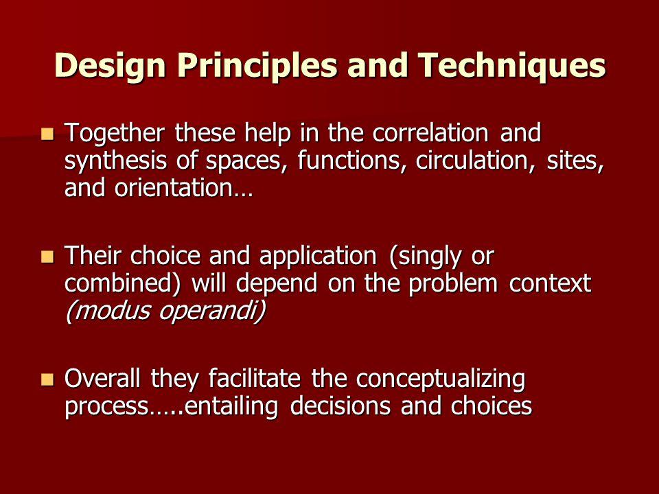 Design Principles and Techniques