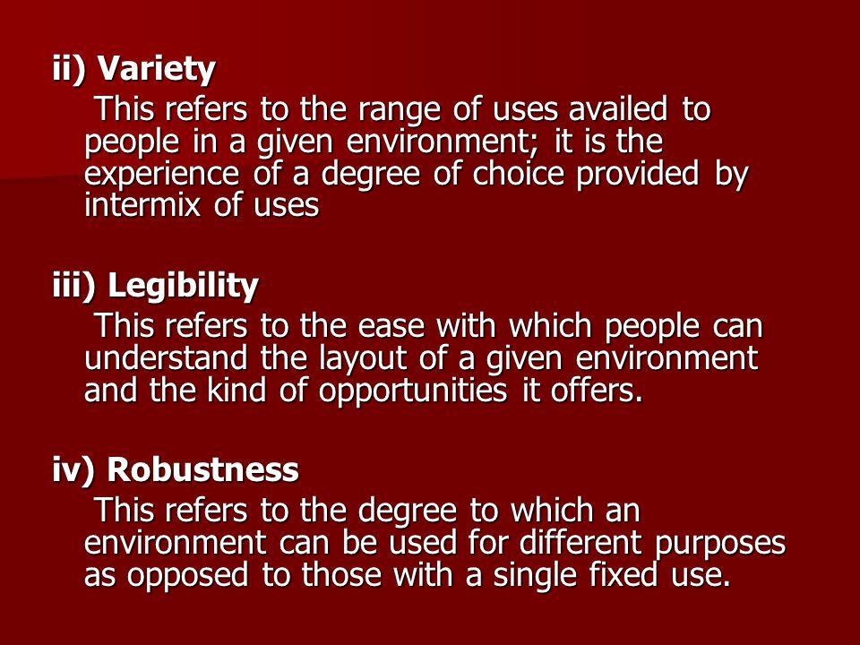 ii) Variety