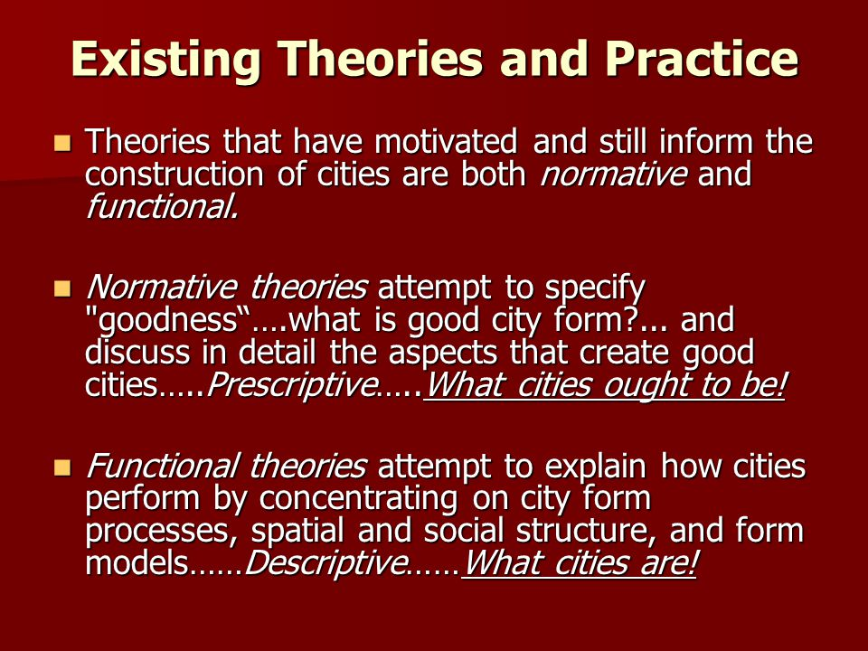 Existing Theories and Practice