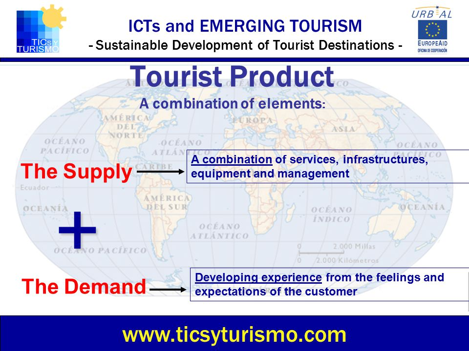 Tourist Product A combination of elements: