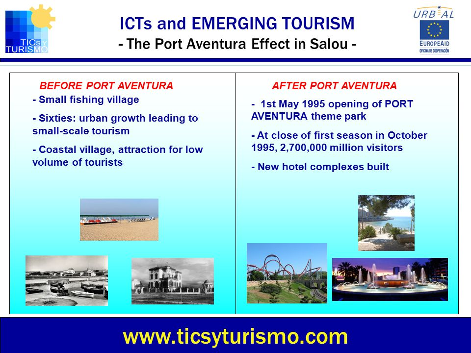 ICTs and EMERGING TOURISM - The Port Aventura Effect in Salou -