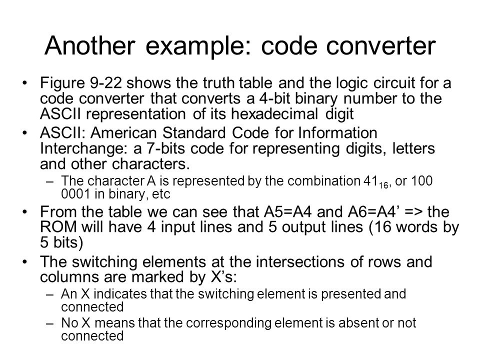 Another example: code converter