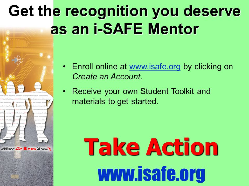 Get the recognition you deserve as an i-SAFE Mentor