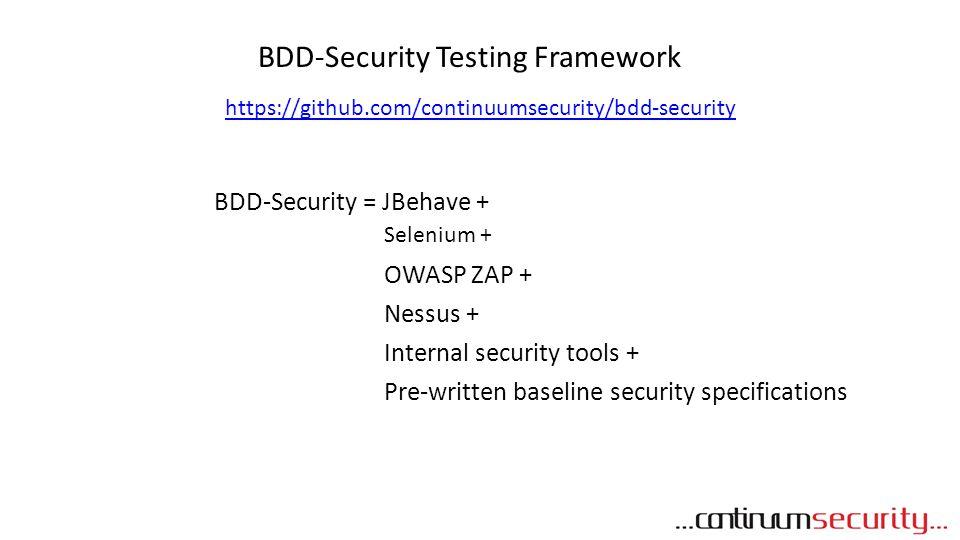 BDD-Security Testing Framework