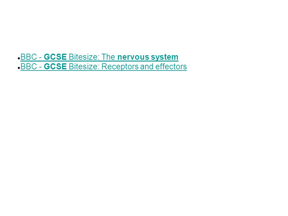 BBC - GCSE Bitesize: The nervous system