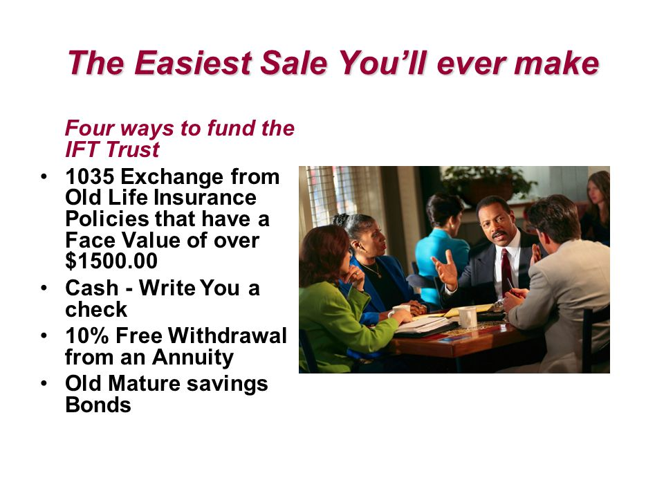 The Easiest Sale You'll ever make