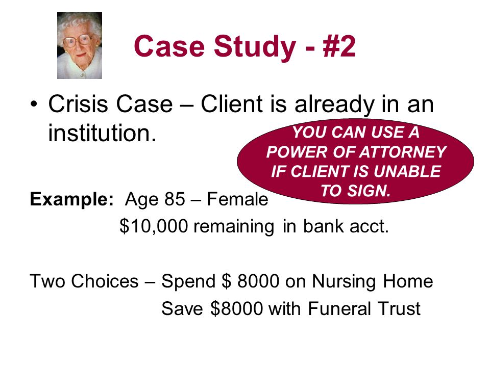 Case Study - #2 Crisis Case – Client is already in an institution.