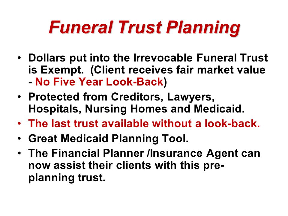 Funeral Trust Planning