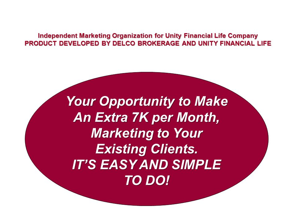 Your Opportunity to Make