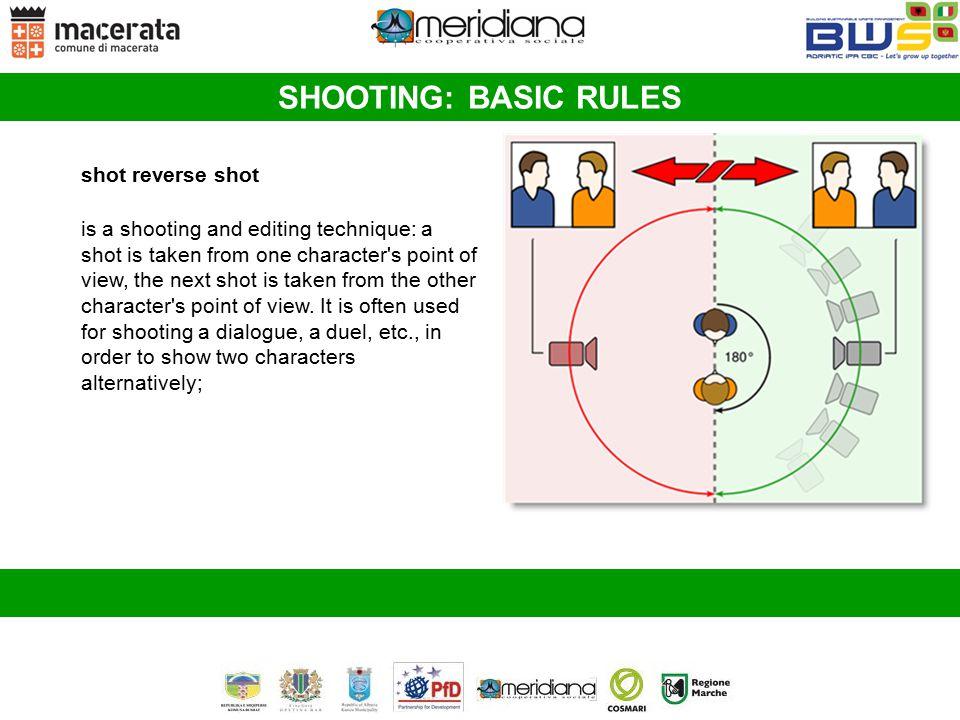 SHOOTING: BASIC RULES shot reverse shot