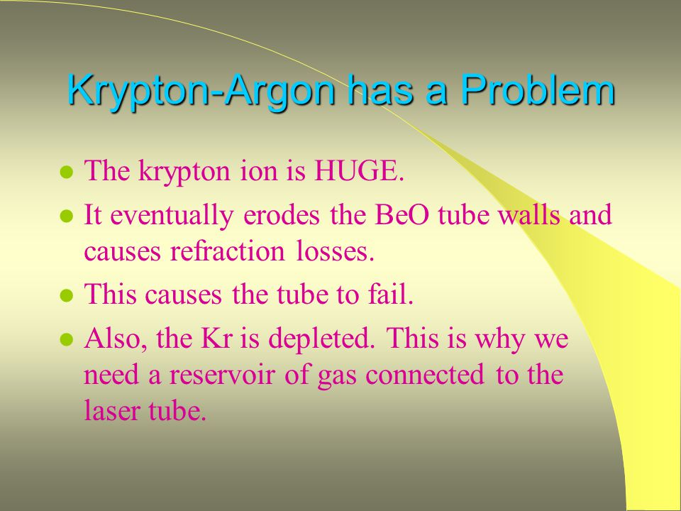 Krypton-Argon has a Problem
