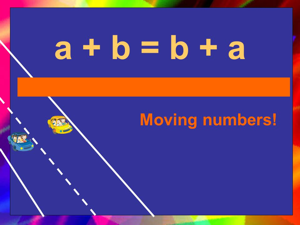 a + b = b + a Moving numbers!