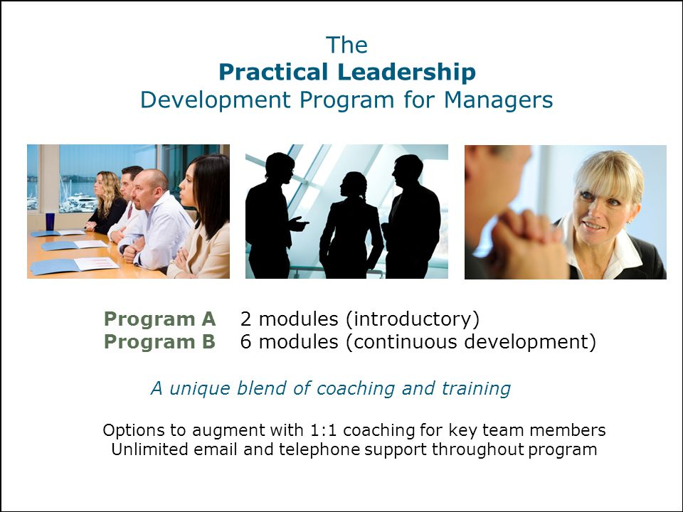 Development Program for Managers