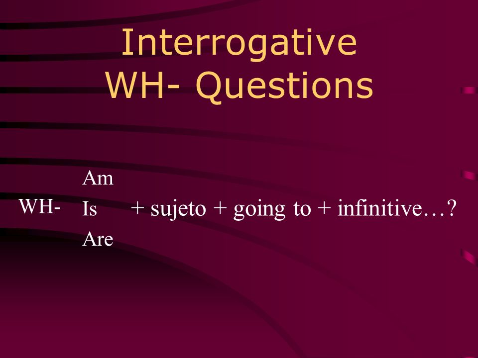 Interrogative WH- Questions