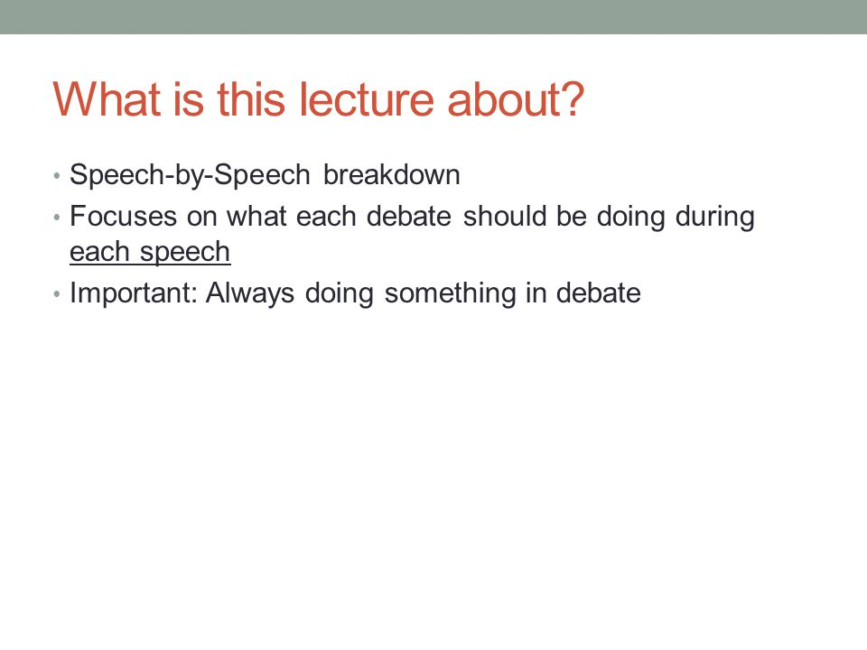 What is this lecture about