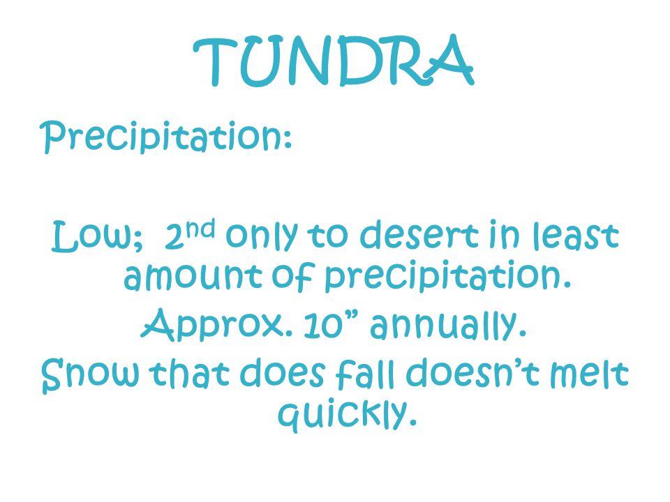 TUNDRA Precipitation: