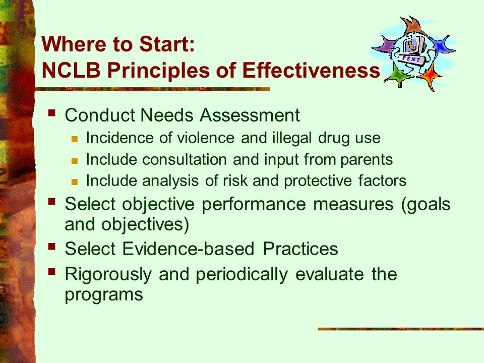 Where to Start: NCLB Principles of Effectiveness