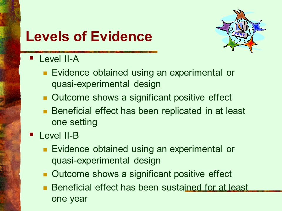 Levels of Evidence Level II-A