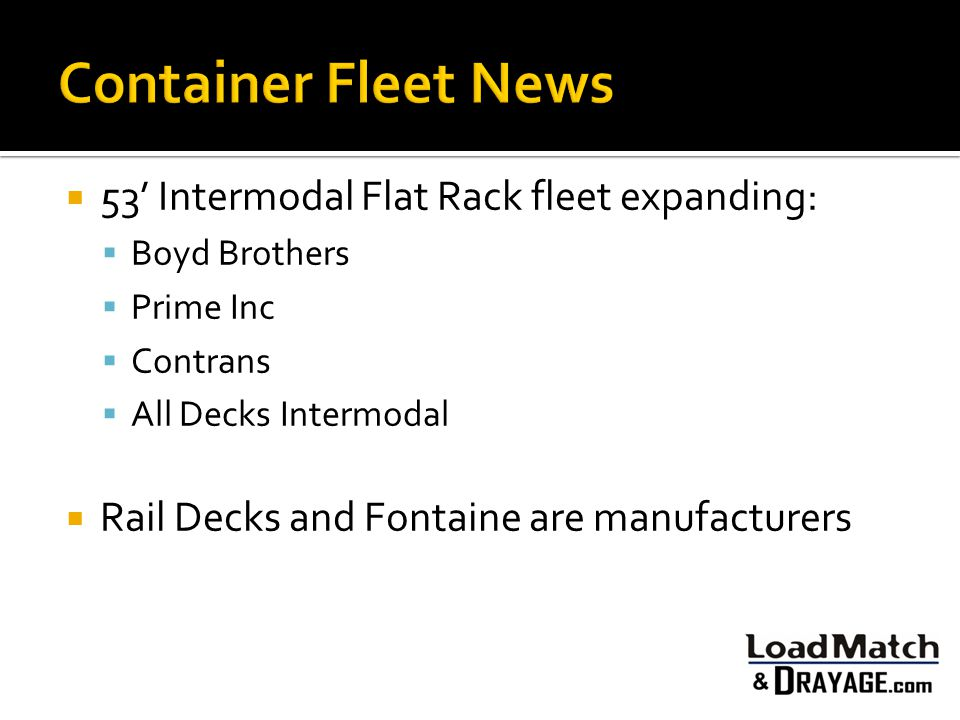 Container Fleet News 53' Intermodal Flat Rack fleet expanding:
