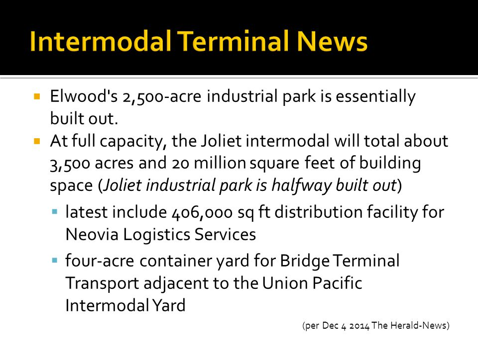 Intermodal Terminal News