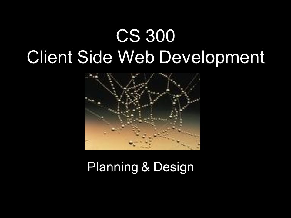 CS 300 Client Side Web Development