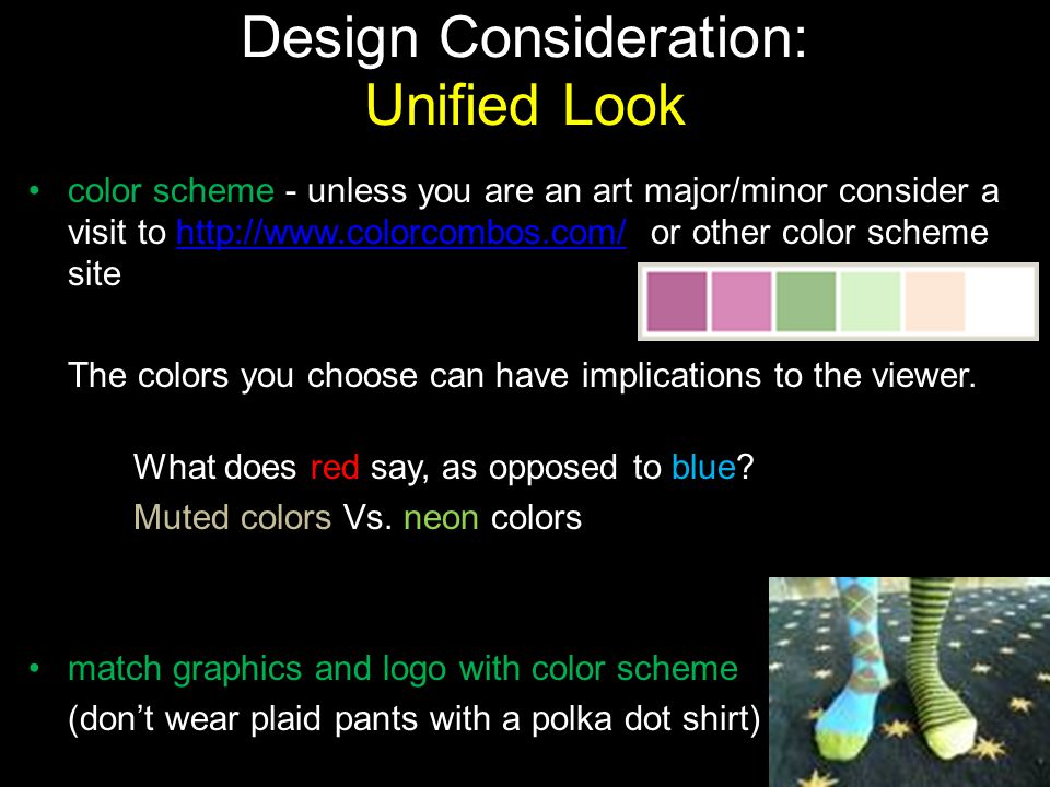 Design Consideration: Unified Look
