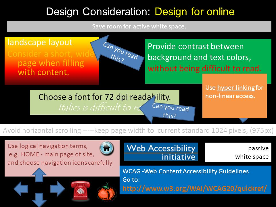 Design Consideration: Design for online